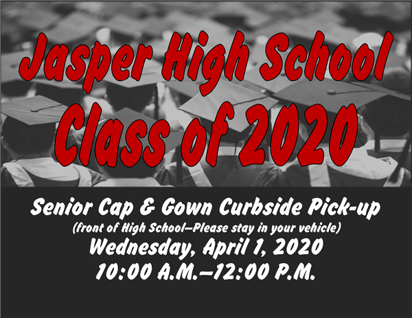 Senior Cap & Gown Curbside Pick-up