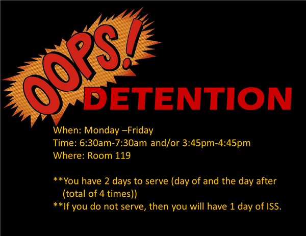 Detention Information