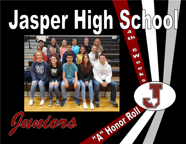"Juniors ""A"" Honor Roll - 4th 6 Weeks"