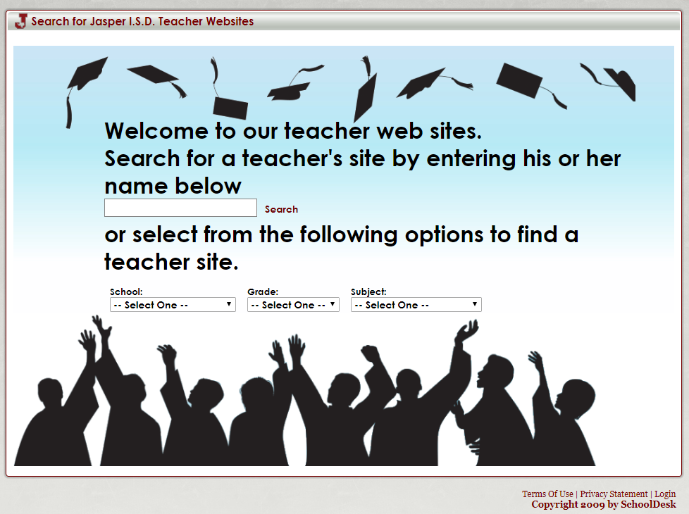 picture of schooldesk teacher website page